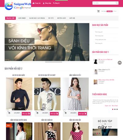 Mẫu website thời trang - mẫu 1