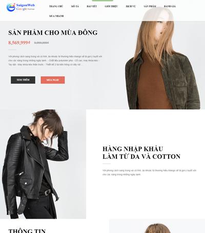 Mẫu website thời trang - mẫu 5