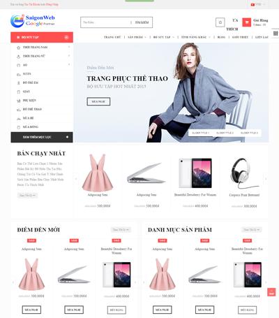 Mẫu website thời trang - mẫu 6