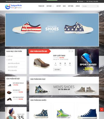 Mẫu website thời trang - mẫu 7