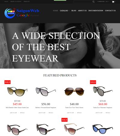 Mẫu website thời trang - mẫu 9