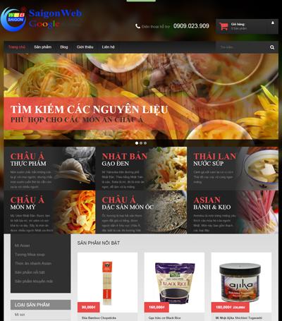 Mẫu website ẩm thực - mẫu 1