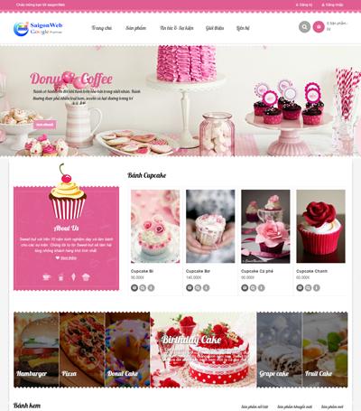 Mẫu website ẩm thực - mẫu 2