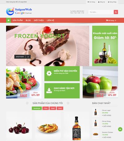 Mẫu website ẩm thực - mẫu 6