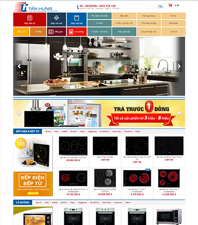 website điện máy đẹp - dienmaytanhung.com.vn