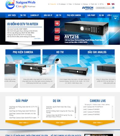 Mẫu website Điện Máy - Mẫu 3