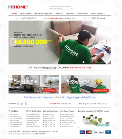 Mẫu website nội thất - mẫu 1