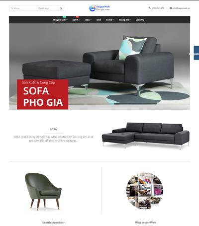 Mẫu website nội thất - mẫu 3
