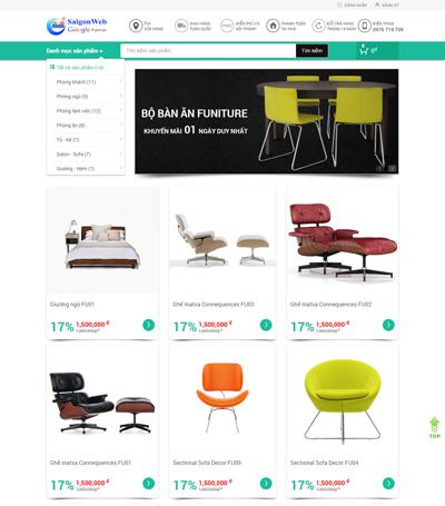 Mẫu website nội thất - mẫu 4