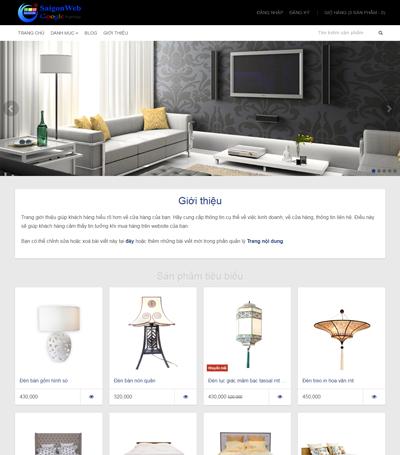 Mẫu website nội thất - mẫu 5