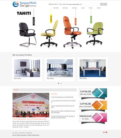 Mẫu website nội thất - mẫu 7