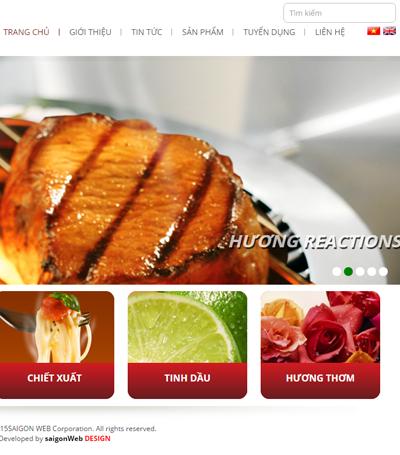 Mẫu website hương vị - Mẫu 1