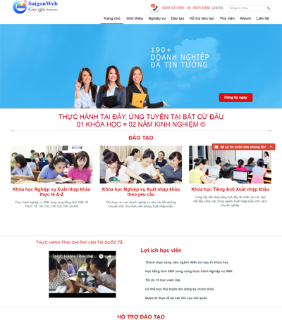 Mẫu website giáo dục - Mẫu 1