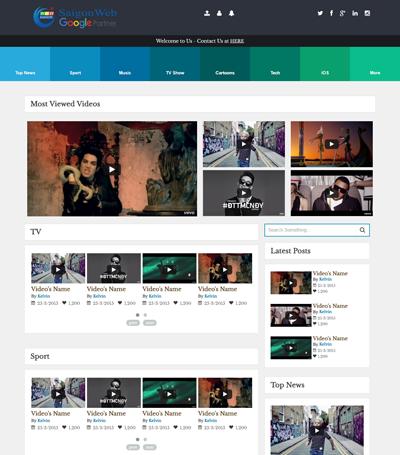 Mẫu website video - Mẫu 1