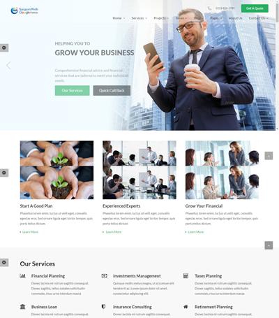 Mẫu website dịch vụ tư vấn - Mẫu 1