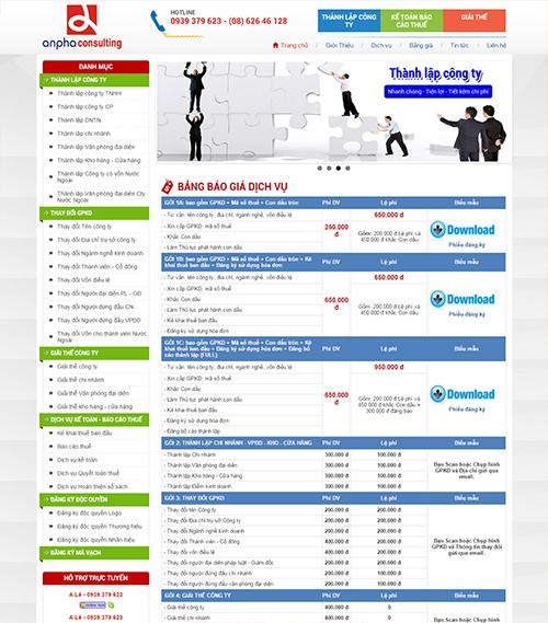 Website dịch vụ kế toán