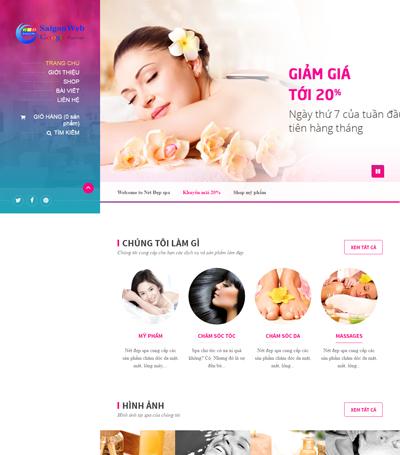 Mẫu Website Dịch Vụ Spa - Mẫu 2