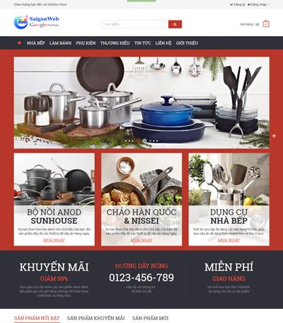 Mẫu website bán hàng - mẫu 1