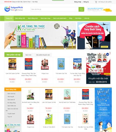 Mẫu website bán hàng - mẫu 2