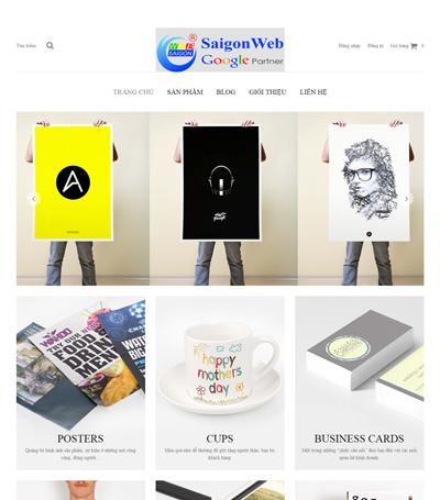 Mẫu website bán hàng - mẫu 3