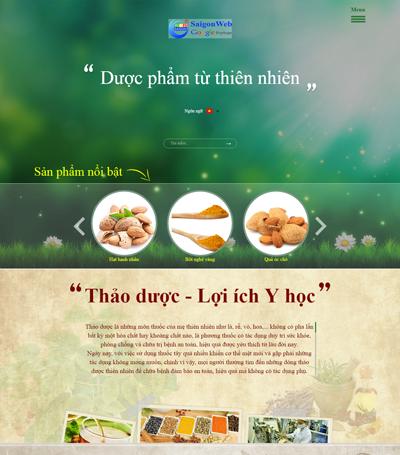 Mẫu website bán hàng - mẫu 8