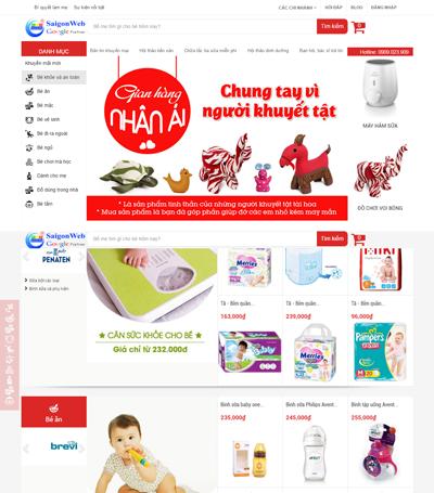 Mẫu website bán hàng - mẫu 9