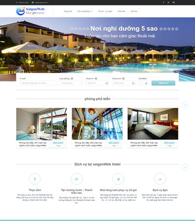 Mẫu Website Khách Sạn - Mẫu 2 (vi)