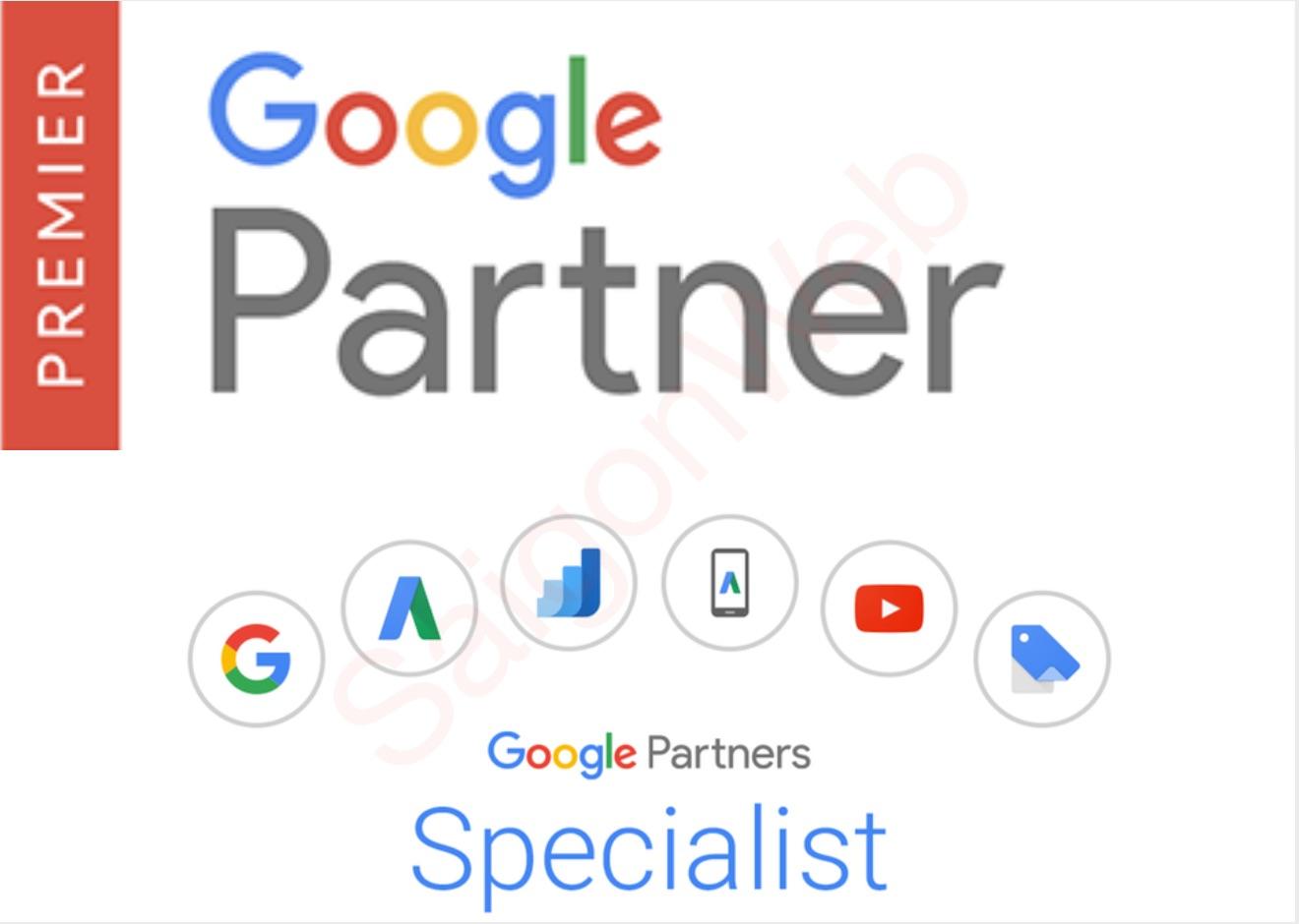 Đối tác cao cấp Google Premier từ 2011